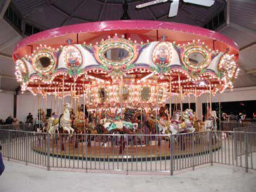 the foundation center the carousel - Lafreniere Park Christmas Lights